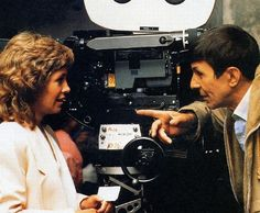 Leonard Nimoy and Catherine Hicks behind the scenes on 'Star Trek The Voyage Home'