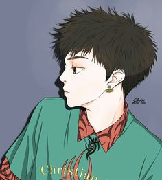 Exo Fan Art, Exo Exo, Xiu Min, Fanart, Anime, Korean, Korean Language, Fan Art, Cartoon Movies
