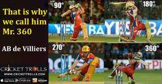 #HappyBirthday Mr.360 #ABD #Cricket Cricket Trolls AB de Villiers http://www.crickettrolls.com/2016/02/17/ab-de-villiers-that-is-why-we-call-him-mr-360/