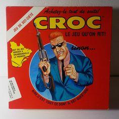 Magazine Croc le Jeu qu'on rit 1989 Board Game 6 cartes de souhaits