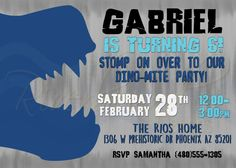 Printable Dinosaur Birthday Invitation / by RiverMamasDesigns
