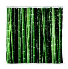 Kikkerland Shower Curtain, Bamboo. $12.89 (+free shipping)  Buy a lucky bamboo plant  to put on the sink  to go with the curtain