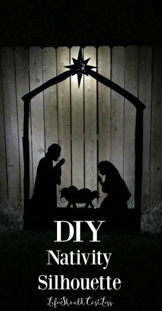 DIY Nativity Silhouette Yard Decor - Life Should Cost Less Nativity Scene For Yard, Diy Nativity, Christmas Nativity Scene, Christmas Wood, Nativity Scenes, Christmas Time, Christmas Bells, Merry Christmas, Christmas Ideas