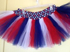 Girls Large Red White & Blue TuTu by lookatmybooties on Etsy, $30.00