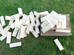 Giant Jenga is definitely one of the favourites of our lawn games collection!