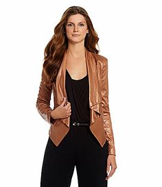 medium-Gibson and Latimer Cascade FauxSuede Jacket Dillards, Christmas Gifts, Leather Jacket, Medium, Jackets, Fashion, Xmas Gifts, Studded Leather Jacket, Down Jackets