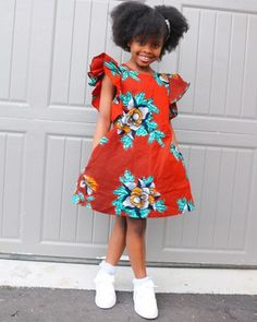 Ankara Styles For Kids, African Dresses For Kids, Ankara Dress Styles, Little Girl Outfits, African Fashion Dresses, Little Girl Dresses, Kids Outfits, Girls Dresses, Quilts Vintage
