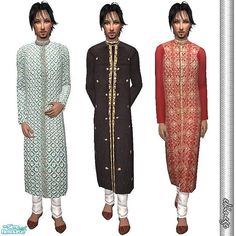 1 new mesh + 3 sherwani for male.  Found in TSR Category 'Sims 2 Clothing Sets'