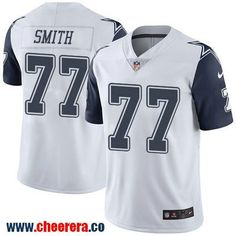Men's Dallas Cowboys #77 Tyron Smith White 2016 Color Rush Stitched NFL Nike Limited Jersey