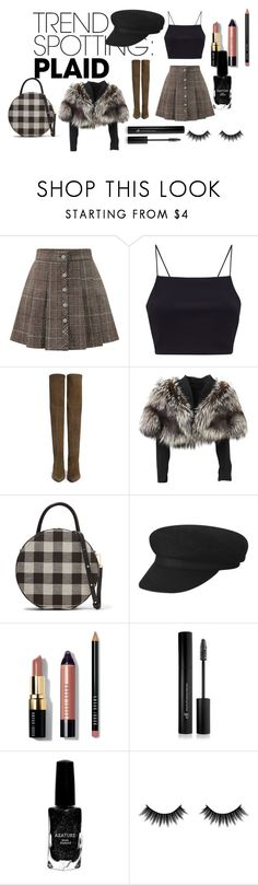 """hjiu"" by sunshine-189 ❤ liked on Polyvore featuring WithChic, Stuart Weitzman, Lolita Lempicka, Mansur Gavriel, Bobbi Brown Cosmetics, Forever 21, Azature, Morphe, contestentry and NYFWPlaid"