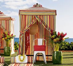 Steal of the Day Pottery Barn Chesapeake Changing Cabana & Backyard Ideas - Outdoor Cabanas - Pool Cabanas - Cabanas ...