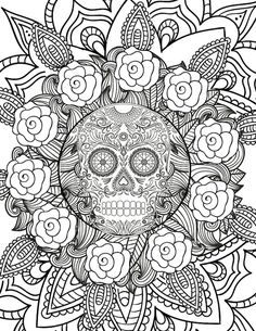 Halloween Skull This Free Adult Coloring Page Is Perfect For Getting Into The Spirit