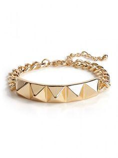 Pyramid ID Bracelet Bracelet   BaubleBar