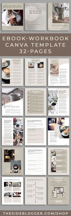Need an eBook-Workbook Canva template that you can add content to as well as worksheets and checklis Online Graphic Design, Graphic Design Programs, Graphic Design Tools, Media Design, Contents Page Template, Cover Page Template, Book Layout, Blog Planner, Marketing Materials