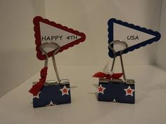 More Binder Clip Table Scatters by candee porter - Cards and Paper Crafts at Splitcoaststampers
