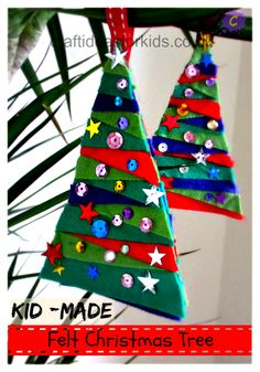 Do you love Children? Why not volunteer with Via Volunteers in South Africa and make a difference! https://www.viavolunteers.com/ Craft Ideas for Kids - Felt Christmas Tree