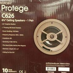 """Proficient Protege C626 6 1/2 """" Ceiling Speakers"""