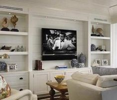 Check out this wonderful playroom built ins – what an imaginative style and desi… - Zimmereinrichtung Simple Living Room, New Living Room, Living Room Decor, Living Room Without Fireplace, Living Room Entertainment Center, Custom Entertainment Center, Tv Entertainment Wall, Built In Shelves Living Room, Home Remodeling