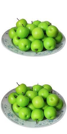 Binmer(TM)50 pcs Home Furnishing Artificial Apple Plastic Dcorative Fruit Photographic Props Home Decor (B)