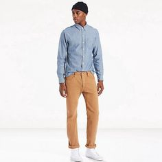 LEVI'S 501® ORIGINAL FIT PANTS - CARAWAY GARMENT DYE. #levis #cloth #