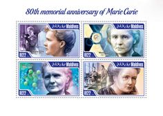 Nobel Prize Winners, Marie Curie, Maldives, Postage Stamps, Medicine, Anniversary, Memories, History, The Maldives