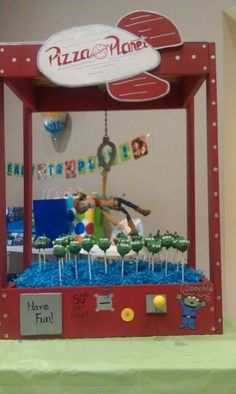 Toy story cake pops claw machine