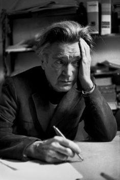 Emil Michel Cioran at his home, Paris, 1984. Henri Cartier-Bresson
