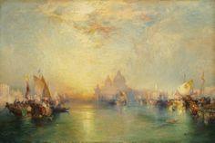 """Venice,"" Thomas Moran, 1904, oil on canvas, 20 1/16 x 30 1/16"", Cleveland Museum of Art."