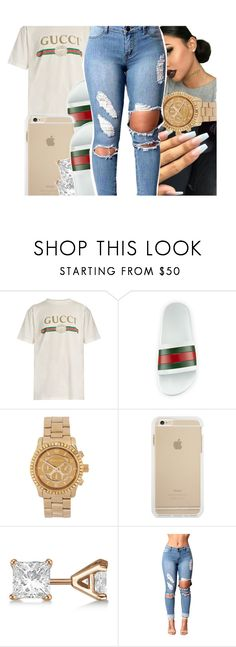 """Gucci."" by ceedyy ❤ liked on Polyvore featuring Gucci, Michael Kors and Allurez"
