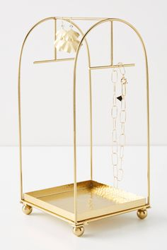 Cecilia Jewelry Stand - Cecilia Jewelry Stand by Anthropologie in Gold, Decor - Isle Of Man, Wire Baskets, Konmari, Jewelry Holder, Diy Jewelry Stand, Necklace Holder, Jewellery Storage, Jewellery Diy, Jewellery Display