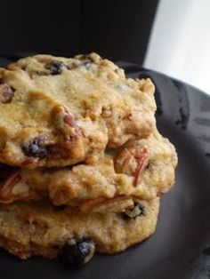 Vegan Lemon-Blueberry-Pecan Cookies