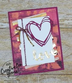 Pained Love by Wendy Lee,Stampin Up,#creativeleeyours,valentine, anniversary,sunshine sayings, sunshine wishes thinlits,stamping,handmade,love,valentine, anniversary