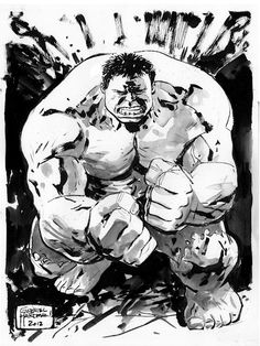 Just love the way Gabriel Hardman does the Hulk.