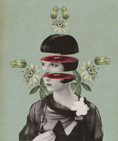 Julia Geiser is an artist based in Switzerland. Her collages are imaginative collections out of a diversity of modern and at the same time vintage motifs. via: Asylum Art. Collage Kunst, Art Du Collage, Collage Illustration, Digital Collage, Illustrations, Collage Artists, Digital Art, Design Graphique, Art Graphique