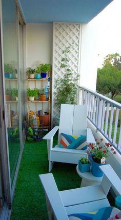 54 Ideas apartment patio decor space saving for 2019 - Modern Small Balcony Design, Small Balcony Garden, Small Balcony Decor, Terrace Garden, Small Balconies, Balcony Gardening, Gardening Tools, Herb Garden, Indoor Garden