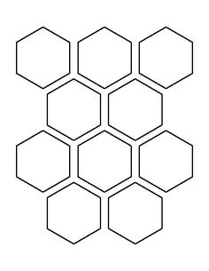 Use the printable outline for crafts, creating stencils, sc… – Tattoo Pattern Printable Shapes, Templates Printable Free, Printables, Printable Stencils, Hexagon Pattern, Hexagon Shape, Honeycomb Pattern, Quilt Pattern, Free Shapes