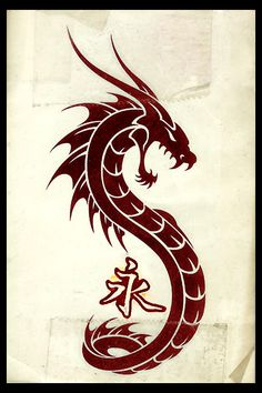Dragon Tattoo by ~hellboundhappy