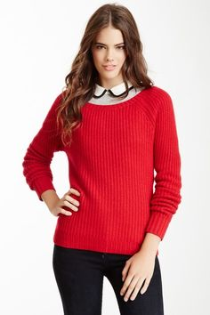 philosophy Cashmere Back Button Hi-Lo Pullover Sweater by Non Specific on @HauteLook