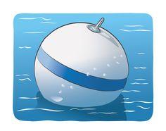 Mooring buoy. Get your boat license at BoatTests101.com!