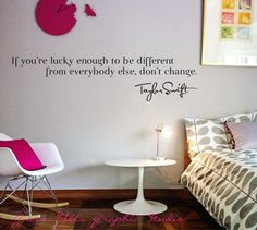 (Taylor Swift Wall Decal  Taylor Swift Wall by GroveMillsGraphics, $25.00)  LOVE! Sooo would do that