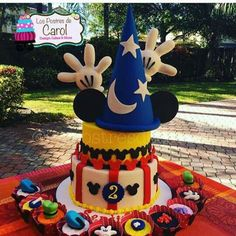 Incredible cake at a Mickey Mouse birthday party! See more party ideas at… Mickey Mouse Clubhouse Birthday, Mickey Mouse Parties, Mickey Party, Circus Birthday, Mickey Mouse And Friends, Mickey Mouse Birthday, Birthday Parties, Disney Parties, 2nd Birthday