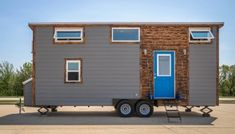 Nomad's Nest 5th Wheel Tiny Home on Wheels by Wind River Tiny Homes Tiny House Listings, Tiny House Plans, Tiny House On Wheels, Tiny Houses Canada, Tiny Houses For Sale, Tiny House Layout, House Layouts, Tiny Cabins, Cabins And Cottages