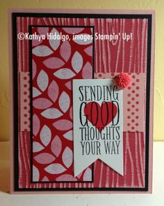 Stamp with Kathya, Perfect Pennants, Stampin Up Occasions 2014, Sweet Sunday Sketch Challenge