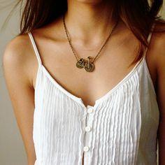cute bike necklace!