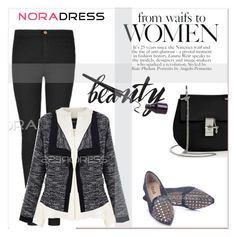 """""""NoraDress 17"""" by amra-mak ❤ liked on Polyvore featuring Derek Lam, Chloé, women's clothing, women, female, woman, misses, juniors and noradress"""