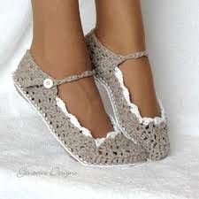 crochet drawing patterns slippers - Google zoeken