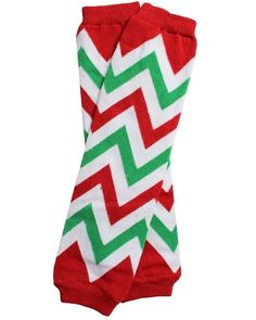 juDanzy One Size Leg Warmer - Christmas Chevron