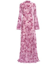 Erdem - Exclusive to mytheresa.com – Yelena devore velvet dress - Erdem's Yelena dress makes a lasting impression with its violet hue and intricate detail. Crafted in the UK from plush velvet, this style is enhanced by devore florals that reveal a sheer mesh base. A lining slip dress provides comfort and coverage to this floor-sweeping number. seen @ www.mytheresa.com