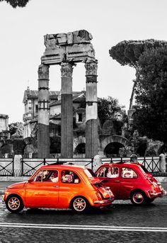 Roma Fiat 500   #TuscanyAgriturismoGiratola