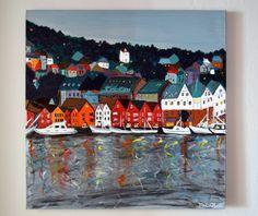 Norway, Bergen - acrylic painting
